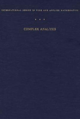 Complex Analysis By Ahlfors, Lars V.